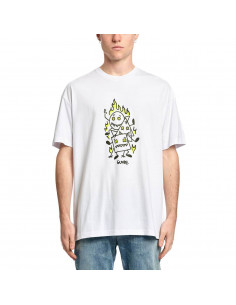 Тениска Globe APPLEYARD STACKER TEE WHITE