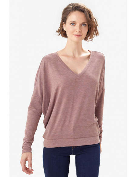 Дамска блуза Lole DOWNTOWN V-NECK - Red