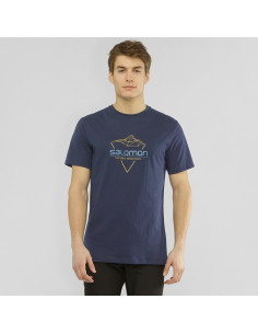 Тениска SALOMON BLEND LOGO TEE M NIGHT SKY/ARROWWOOD/DAR