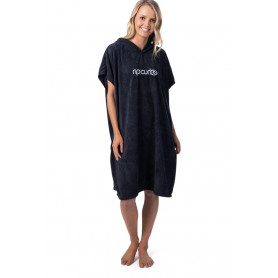 SURF ESS HOODED TOWEL-BLACK-TU