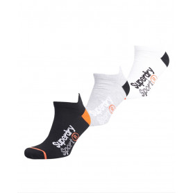Чорапи SUPERDRY COOL MAX ANKLE SOCK 3PK-MONO MULTIPACK