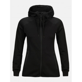 Горнище PEAK PERFORMANCE W TECH ZIP HOOD BLACK
