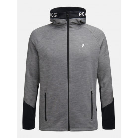 Горнище PEAK PERFORMANCE M RIDER MEL ZIP HOOD GREY MELANGE