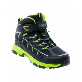 Туристически обувки ELBRUS SAVAS MID WP JR BLACK/LIME/SILVER