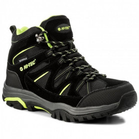 Туристически обувки HITEC OUTDOOR SHOES RAPOSO MID WP BLACK/LIME/DARK GREY