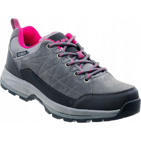 Туристически обувки HITEC BATIAN LOW WP WOS DARK GREY/BLACK/FUCHSIA