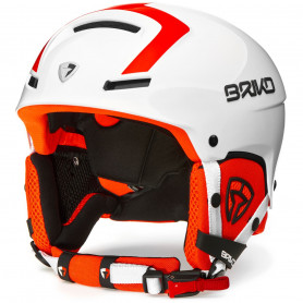 КАСКА ЗА СКИ BRIKO FAITO FLUID INSIDE  HELMET MATT WHITE ORANGE FL M2