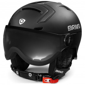 КАСКА ЗА СКИ BRIKO STROMBOLI VISOR PHOTO HELMET SHINY MATT BLACK M2