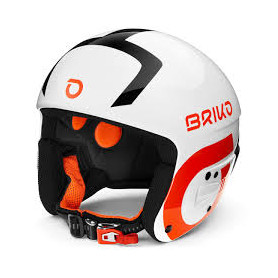 КАСКА ЗА СКИ BRIKO VULCANO FIS 6.8 -FLUID MIMPACT HELMET S WH. BLACK ORANGE 58