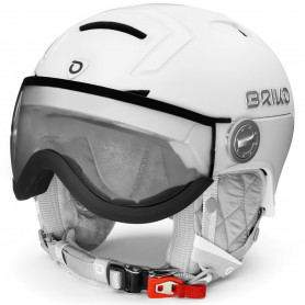 КАСКА ЗА СКИ BRIKO AMBRA VISOR PHOTO HELMET MATT SH PEARL WHITE  M2