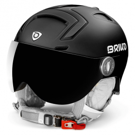 КАСКА ЗА СКИ BRIKO AMBRA VISOR PHOTO HELMET MATT SHINY BLACK S