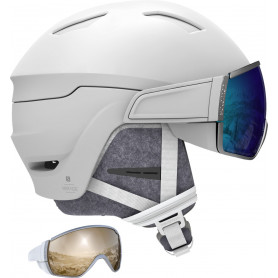 Каска за ски Salomon HELMET MIRAGE WHITE/BLUE SOLAR