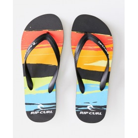 Джапанки Rip Curl RESIN BLOWN OUT-BLACK/ORANGE