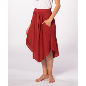 Пола RIP CURL OASIS MUSE SKIRT-ROSEWOOD