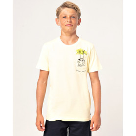 Тениска Rip Curl WHATS IN MY POCKET SS TEE-PALE YELLOW