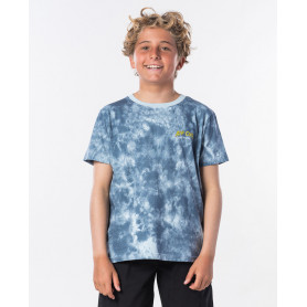 Тениска Rip Curl TIE AND DYED SS TEE BOY-MID BLUE