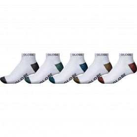 Чорапи Globe INGLES ANKLE SOCK 5 PACK WHITE