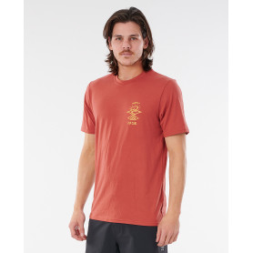 Тениска Rip Curl SEARCHERS S/SL UV TEE-MAROON