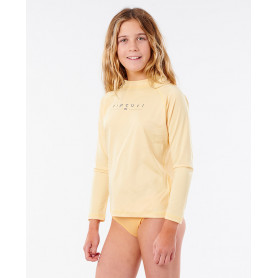 Rip Curl GIRLS GOLDEN RAYS L/SL-LIGHT YELLOW