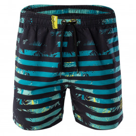 Бански AQUAWAVE ALVAN-TURQUOISE JUNGLE PRINT/BLACK STRIPE