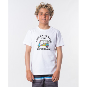Тениска Rip Curl COCHE SS TEE BOY -OPTICAL WHITE