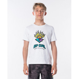 Тениска Rip Curl SURF STICKERS SS TEE BOY-WHITE MARLE