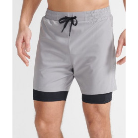 Шорти Superdry DOUBLE LAYER SHORT-FROST GREY