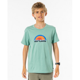 Тениска Rip Curl SURF REVIVAL DECAL TEE-BY -GREEN CREAM