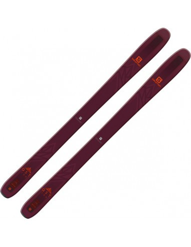 Ски SKIS N QST 106 BORDEAUX/ORANGE